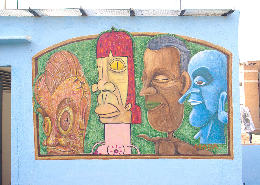 スペイン、バルセロナでの壁画